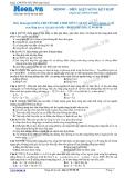 Chuyên đề LTĐH môn Vật lý: Điều kiện sóng kết hợp