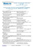 Chuyên đề LTĐH môn Hóa học: Căn bản-Bài toán thủy phân este đặc biệt