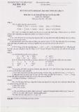 Đề thi tuyển sinh sau đại học môn Cơ sở lý thuyết Hóa học và Cấu tạo chất 2012 (Đợt 1)