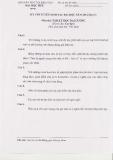 Đề thi tuyển sinh sau đại học môn Tâm lý học đại cương năm 2012 (Đợt 1)