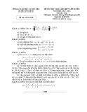 Đề thi HSG môn Toán lớp 9 cấp huyện - Sở GD&ĐT huyện Yên Định