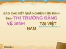 Báo cáo kết quả nghiên cứu định tính thị trường băng vệ sinh tại Việt Nam