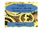 Thuyết trình: Khối tiền tệ - Bản chất, chức năng của tài chính