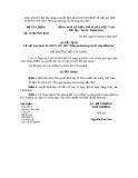 Quyết định Số: 23/2007/QĐ-BXD
