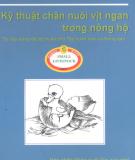 Hướng dẫn chăn nuôi vịt ngan trong nông hộ: Phần 2