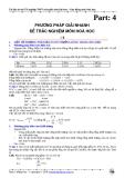 Tài liệu ôn thi Hóa học: Phương pháp giải nhanh đề trắc nghiệm môn Hóa học (phần 4)