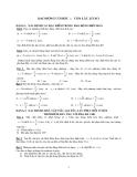 Ôn thi Đại học: Bài toán dao động cơ học-con lắc lò xo