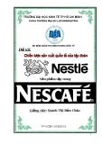 Đề tài: Chiến lược sản xuất quốc tế của tập đoàn Nestle