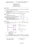 Đề thi môn Điện tử tương tự - Học kỳ V
