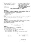 Đề thi môn Lý thuyết tính hiệu HK1 - Mã đề 231