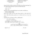 Đề thi môn Lý thuyết tín hiệu - Đề 1