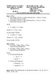 Đề thi môn Kỹ thuật truyền dẫn - Học kỳ phụ: Đề 01