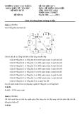 Đề thi môn Hệ thống báo hiệu - Học kỳ 5: Đề 01