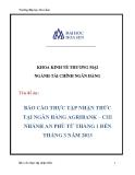 Báo cáo thực tập nhận thức tại ngân hàng Agribank–chi nhánh An Phú từ tháng 1 đến tháng 3 năm 2013