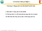 Bài giảng Cơ sở kỹ thuật điện 1 - Chương 6: Mạng một cửa Kirchhoff tuyến tính