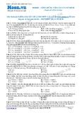 Chuyên đề luyện thi đại học môn Vật lý: Sóng dừng với vật cản cố định