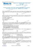 Chuyên đề luyện thi đại học môn Hóa học: Nâng cao - Bài toán thủy phân este đặc biệt