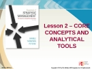 Lecture Strategic Management: Lesson 2 - Core concepts and analytical tools