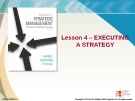Lecture Strategic Management: Lesson 4 - Executing a strategy