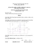 Đề thi tốt nghiệp Cao đẳng Nghề khóa 2 (2008 - 2011) môn Điện tử dân dụng: Đề 50 (Lý thuyết)