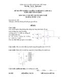 Đề thi tốt nghiệp Cao đẳng Nghề khóa 2 (2008 - 2011) môn Điện tử dân dụng: Đề 42 (Lý thuyết)
