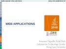 Bài giảng Lập trình mạng: Web Applications - GV. Nguyễn Xuân Vinh