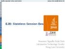 Bài giảng Lập trình mạng: Stateless Session Bean - GV. Nguyễn Xuân Vinh