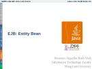 Bài giảng Lập trình mạng: Entity Bean - GV. Nguyễn Xuân Vinh