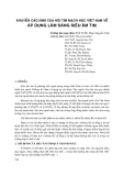 Khuyến cáo 2008 của Hội tim mạch học Việt Nam về áp dụng lâm sàng siêu âm tim