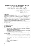 Khuyến cáo 2008 của Hội tim mạch học Việt Nam về chẩn đoán và xử trí viêm nội tâm mạc nhiễm khuẩn