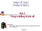 Bài giảng Kinh tế học - Phần vĩ mô 2: Bài 7