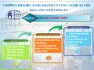 Bài giảng Microsoft access 2010: Chương 3 - ĐH Kinh doanh Công nghệ Hà Nội