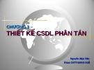 Bài giảng Cơ sở dữ liệu phân tán: Chương 3 - Nguyễn Mậu Hân