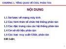 Bài giảng Cơ sở dữ liệu phân tán: Chương 1 - Nguyễn Mậu Hân