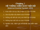 Bài giảng Lý thuyết kiểm toán: Chương 2 Hệ thống kiểm soát nội bộ