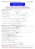 Toán học lớp 10: Phương trình bậc hai- Thầy Đặng Việt Hùng