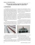 Báo cáo Kết cấu - Công nghệ xây dựng: Phân tích ứng xử động lực học kết cấu đường sắt không ballast qua mô hình 1 và 2 bậc tự do
