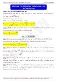Luyện thi ĐH môn Toán 2015: Bài toán cực trị trong không gian (phần 2) - Thầy Đặng Việt Hùng