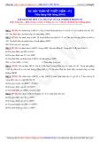 Toán học lớp 11: Bài toán về thiết diện (Phần 1) - Thầy Đặng Việt Hùng