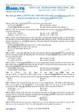 Chuyên đề LTĐH môn Hóa học: Nâng cao-Bài toán đốt cháy este (Đề 2)