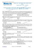 Chuyên đề LTĐH môn Hóa học: Nâng cao-Bài toán thủy phân este (Đề 2)