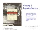 Bài giảng Mạng máy tính: Chương 2 - J.F Kurose &  K.W. Ross