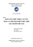 Báo cáo môn Thuế: Phân tích thực trạng, nguyên nhân và giải pháp khắc phục thất thu thuế ở Việt Nam