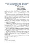 Báo cáo khoa học: Giải pháp quản trị rủi ro lãi suất tại Ngân hàng TMCP Công thương Việt Nam - chi nhánh Đồng Nai