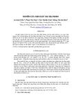 Báo cáo khoa học: Nghiên cứu sản xuất giá đậu nành