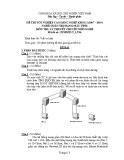 Đề thi tốt nghiệp Cao đẳng Nghề khóa I (2007 - 2010) môn Quản trị mạng máy tính: Đề thi lý thuyết số 06
