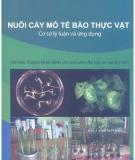 Cơ sở lý luận và ứng dụng nuôi cấy mô tế bào thực vật