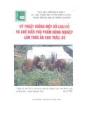 Ebook Kỹ thuật trồng một số loại cỏ và chế biến phụ phẩm nông nghiệp làm thức ăn cho trâu bò