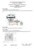 Đề thi tốt nghiệp Cao đẳng Nghề khóa 2 (2008 - 2011) môn Công nghệ ô tô: Đề lý thuyết số 04