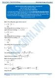 Toán 12: Khoảng đồng biến nghịch biến của hàm số (Đáp án Bài tập tự luyện) - GV. Lê Bá Trần Phương